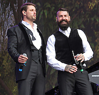 Keith Duffy & Shane Lynch, BST Hyde Park, London UK, 13 July 2014, Photo by Brett D. Cove