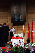 Funeral chapel in Madrid of Communist Party leader Santiago Carrillo