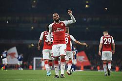 25 September 2017 -  Premier League - Arsenal v West Bromwich Albion - Alexandre Lacazette of Arsenal celebrates scoring a goal from the penalty spot - Photo: Marc Atkins/Offside