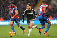 Eden Hazard of Chelsea © makes a break.  Barclays Premier League match, Crystal Palace v Chelsea at Selhurst Park in London on Sunday 3rd Jan 2016. pic by John Patrick Fletcher, Andrew Orchard sports photography.