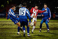 Fotball<br /> UEFA-cup Tromsø - Røde Stjerne 24.11.2005<br /> Dokaj, Josimovic (Røde Stjerne), Lars Iver Strand (TIL) og ?<br /> Foto: Tom Benjaminsen / DIGITALSPORT