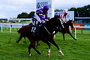 Sablet ridden by Charles Bishop and trained by Eve Johnson Houghton ridden in the Visit valuerater.co.uk For Free Tips Classified Stakes - Mandatory by-line: Ryan Hiscott/JMP - 24/08/20 - HORSE RACING - Bath Racecourse - Bath, England - Bath Races