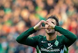 16.10.2010, Weser Stadion, Bremen, GER, 1.FBL, Werder Bremen vs SC Freiburg im Bild   2:1 Hugo Almeida ( Werder #23 ) jubel   EXPA Pictures © 2010, PhotoCredit: EXPA/ nph/  Kokenge+++++ ATTENTION - OUT OF GER +++++