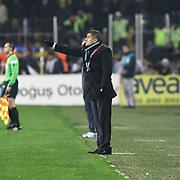 Trabzonspor's coach Senol Gunes during their Turkish superleague soccer derby match Fenerbahce between Trabzonspor at the Sukru Saracaoglu stadium in Istanbul Turkey on Sunday 18 December 2011. Photo by TURKPIX