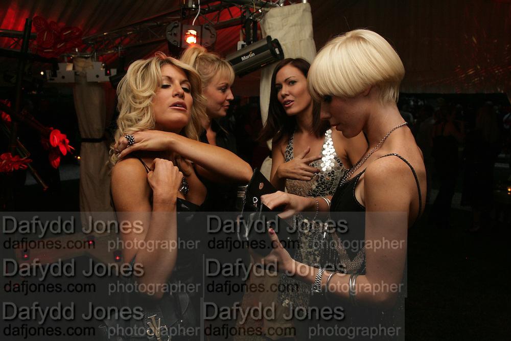 Hofit Golan, Liz Fuller, Charlotte Dutton and Linzi Stoppard, Tropical Colour party to celebrate Le Touessrok. Hempel Hotel London. 12 June 2007.  -DO NOT ARCHIVE-© Copyright Photograph by Dafydd Jones. 248 Clapham Rd. London SW9 0PZ. Tel 0207 820 0771. www.dafjones.com.