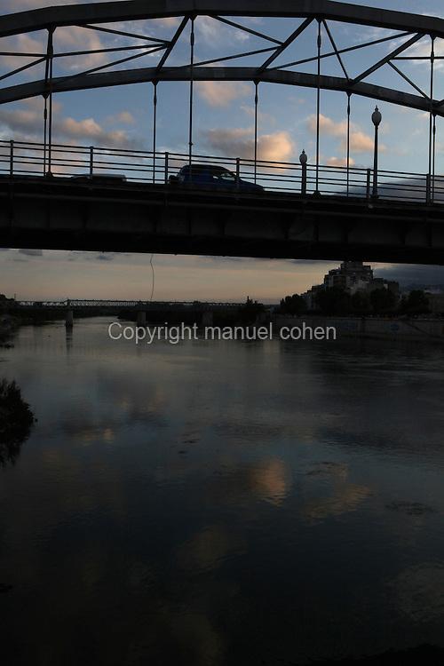 Puente del Estado (Estate bridge) on the Ebro river, Tortosa, Tarragona, Spain. Picture by Manuel Cohen