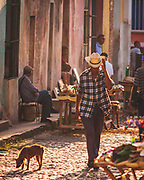 """The calm of the streets of Trinidad, Cuba, glowing in the evening light. It's well worth staying in one of the """"casa particular"""" guest houses and along with the warm hospitality to listen to fascinating tales of the country's recent changes."""
