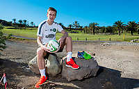 07/01/15<br /> CELTIC TRAINING <br /> SALOBRE GOLF RESORT - GRAN CANARIA <br /> Celtic's Stefan Johansen looks ahead to his side's forthcoming clash against PSV Eindhoven in the   Maspalomas Tournament