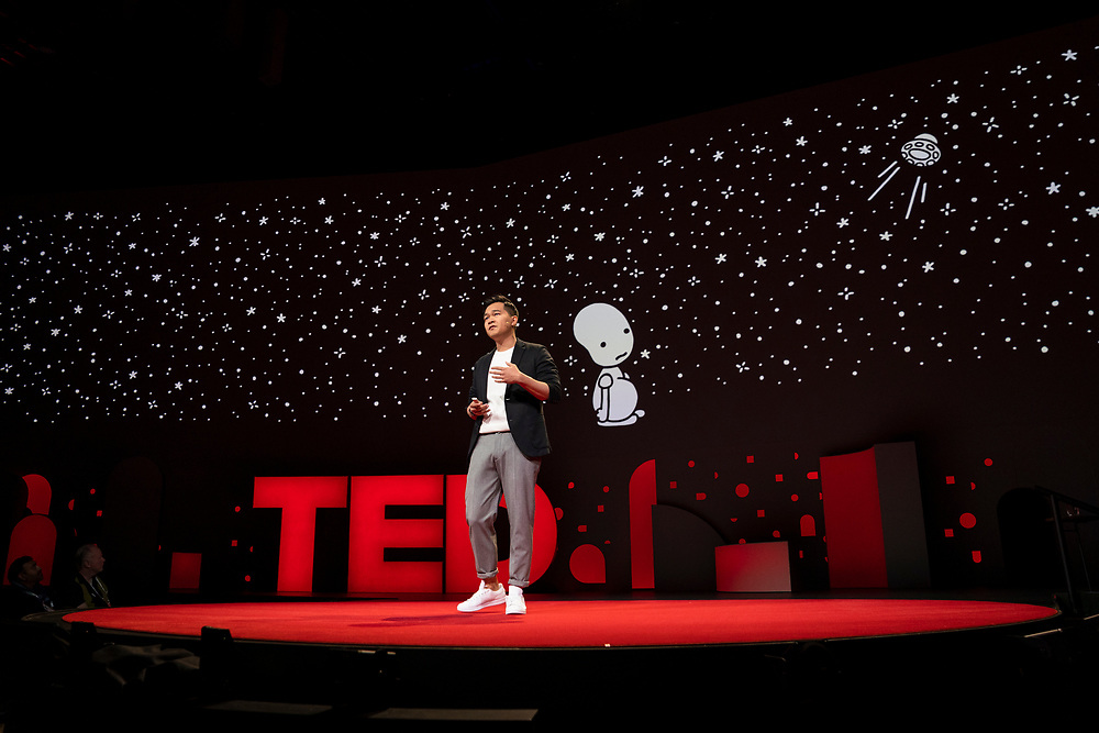 Jonny Sun speaks at TED2019: Bigger Than Us. April 15 - 19, 2019, Vancouver, BC, Canada. Photo: Bret Hartman / TED