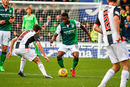 Thomas Agyepong of Hibernian FC during the Ladbrokes Scottish Premiership match between St Mirren and Hibernian at the Simple Digital Arena, Paisley, Scotland on 29th September 2018.