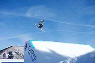 Devon Logan during Ski Slopestyle Practice at 2014 X Games Aspen at Buttermilk Mountain in Aspen, CO. ©Brett Wilhelm/ESPN