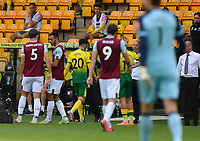 Football - 2019 / 2020 Premier League - Norwich City vs. Burnley<br /> <br /> Norwich City's Josip Drmic is shown a red card by Referee Kevin Friend, at Carrow Road.<br /> <br /> COLORSPORT/ASHLEY WESTERN
