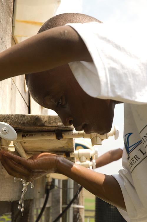 The Center for Social Concern's Teach Baltimore visits Clark's Elioak Farm in Ellicott City, MD on 7/22/2005.