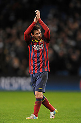 File photo dated 18-02-2014 of Lionel Messi, Barcelona