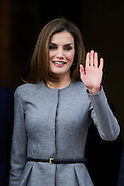 030717 Queen Letizia attends a Working meeting at  AECID