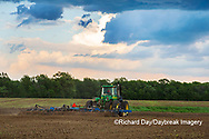 63801-11813 Tilling field in spring with thunderstorm nearby  Marion Co. IL