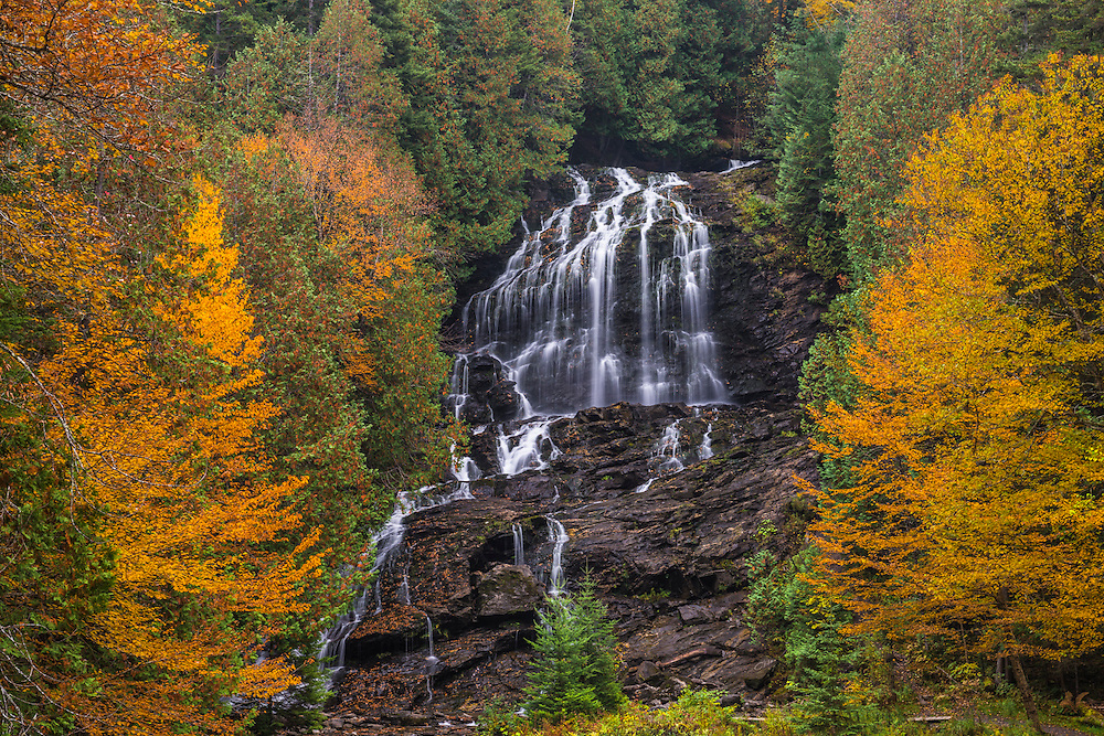 Beaver Brook Falls in fall, Beaver Brook Falls Natural Area, Colebrook, NH