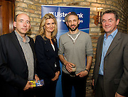"""19/7/2011. Bobby Bergin, Ulster Bank,  Olwyn Long, Ulster Bank, Thomas Padden, Propeller, John Crumlish Galway Arts Festival in McSwiggans for the pre show reception of Propellors """"Comedy of Errors"""" by Shakspeare in the Galway Arts Festival, sponsored by Ulster Bank. Photo:Andrew Downes"""
