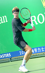October 8, 2018 - Shanghai, Shanghai, China - Shanghai, CHINA-Russian professional tennis player Andrey Rublev prepares for ATP 2018 in Shanghai, October 6th, 2018. (Credit Image: © SIPA Asia via ZUMA Wire)
