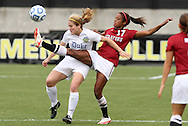 04 December 2011: Stanford's Lindsay Taylor (17) and Duke's Maddy Haller (left). The Stanford University Cardinal defeated the Duke University Blue Devils 1-0 at KSU Soccer Stadium in Kennesaw, Georgia in the NCAA Division I Women's Soccer College Cup Final.