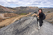 Us in photographic action in Iceland.