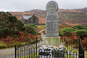"First world war memorial to those killed in the parish of Kinlochspelve, Isle of Mull, Scotland. Kinlochspelve Parish Church, a little way off the road to your left. This was built in 1828 to a standard ""Parliamentary"" design produced by Thomas Telford. Nearby is the parish war memorial. Kinlochspelvie Church has only recently been available to let from Friday to Friday. Also available for Christmas and New Year. (http://canmore.rcahms.gov.uk/en/site/22381/details/mull+kinlochspelve+church/)."