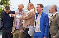 Joachim Lafosse, Mohamed Diab, Uma Thurman, Reda Kateb and Karel Och at the Jury Un Certain Regard photo call at the 70th Cannes Film Festival Thursday 18 May 2017, Cannes, France. Photo credit: Doreen Kennedy
