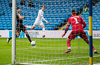 Leeds United's Patrick Bamford scores his side's fifth goal <br /> <br /> Photographer Alex Dodd/CameraSport<br /> <br /> The EFL Sky Bet Championship - Leeds United v Stoke City - Thursday 9th July 2020 - Elland Road - Leeds<br /> <br /> World Copyright © 2020 CameraSport. All rights reserved. 43 Linden Ave. Countesthorpe. Leicester. England. LE8 5PG - Tel: +44 (0) 116 277 4147 - admin@camerasport.com - www.camerasport.com