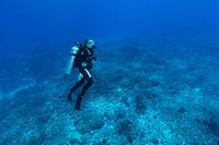 Sylvia Earle diving on Reef in Seychelles