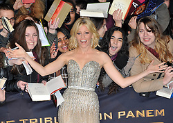 Elizabeth Banks attends the German premiere of the film 'The Hunger Games: Catching Fire' at Sony Centre, Berlin, Germany. Tuesday, 12th November 2013. Picture by  Schneider-Press / i-Images<br /> <br /> UK & USA ONLY