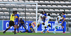Cape Town-180318  Costa do Sol from Mozambique celebrate their second  goal against Cape Town City in the Caf Confederations game at the Athlone Stadium .Photograph:Phando Jikelo/African News Agency/ANA
