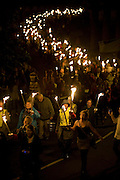 Free Use of Picture<br /> 6 September 2013: Over one thouand torchbearers make their way through Hull  at the opening of Hull's Freedom Festival which runs over the weekend and is expected to attract over 100,000 people.<br /> <br /> Extra info: UK City of Culture 2017 candidate city Hull tonight hosted a spectacular torchlight procession featuring almost 1000 local residents as part of the opening ceremony of Freedom Festival, the city's major annual cultural showcase.<br /> The main procession of flaming torchbearers began at the city's statue of Hull MP William Wilberforce, through the cobbled streets of the city's old town and culminated in a stunning recital of Martin Luther King's 'I Have a  Dream' speech by renowned author and poet Lemn Sissay MBE, 50 years on from when the pivotal address was made.<br /> Freedom Festival grew out of bicentenary commemorations in Hull in 2007 of William Wilberforce's Act of Parliament, which abolished the slave trade in the British Empire.<br /> This is the sixth annual Freedom Festival, which celebrates, through artistic and cultural expression, Hull's independent spirit and historic contribution to the cause of freedom as the birthplace of MP William Wilberforce. Acts appearing during the weekend include The 1975, French theatre pioneers Transe Express in a UK exclusive, Tanzanian acrobatic troupe The Black Eagles and much more.<br /> Free use of picture<br /> Picture: Sean Spencer/Hull News & Pictures Ltd<br /> 01482 772651/07976 433960<br /> www.hullnews.co.uk   sean@hullnews.co.uk