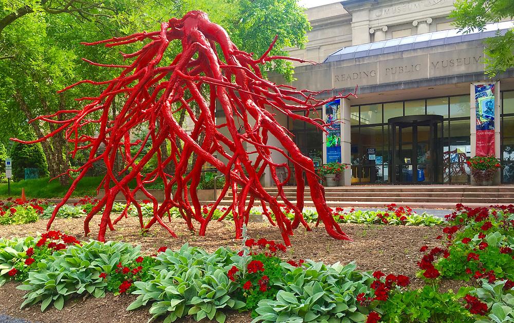 Reading Public Museum, Reading, PA, Berks Co., Bronze Root sculpture by Steve Tobin