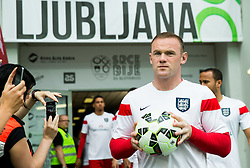 Wayne Rooney of England at warming up prior to the EURO 2016 Qualifier Group E match between Slovenia and England at SRC Stozice on June 14, 2015 in Ljubljana, Slovenia. Photo by Vid Ponikvar / Sportida
