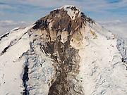 Aerial view of the Iliamna Volcano. Lake Clark National Park, Alaska.