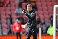 Football - 2018 / 2019 Premier League - AFC Bournemouth vs. Tottenham Hotspur<br /> <br /> Bournemouth's Mark Travers starts in goal for Bournemouth as Bournemouth's Manager Eddie Howe makes changes for there last home game of the season at the Vitality Stadium (Dean Court) Bournemouth <br /> <br /> COLORSPORT/SHAUN BOGGUST