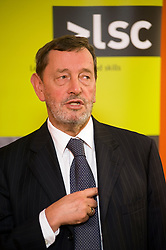 David Blunkett Labour MP for Sheffield, Brightside and Hillsborough visits Working Links Sheffield City Centre Office where he presented certificates for sucess10 December 2009.former  Education Secretary, Home Secretary, Secretary of State for Work and Pensions