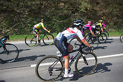 Eri Yonamine (JPN) of Wiggle Hi5 Cycling Team rides mid-pack during Liege-Bastogne-Liege - a 136 km road race, between Bastogne and Ans on April 22, 2018, in Wallonia, Belgium. (Photo by Balint Hamvas/Velofocus.com)