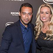 NLD/Amsterdam/20131201 - Vipnight LAF voetbalfair, Denny Landzaat en partner Annemarie de Waal