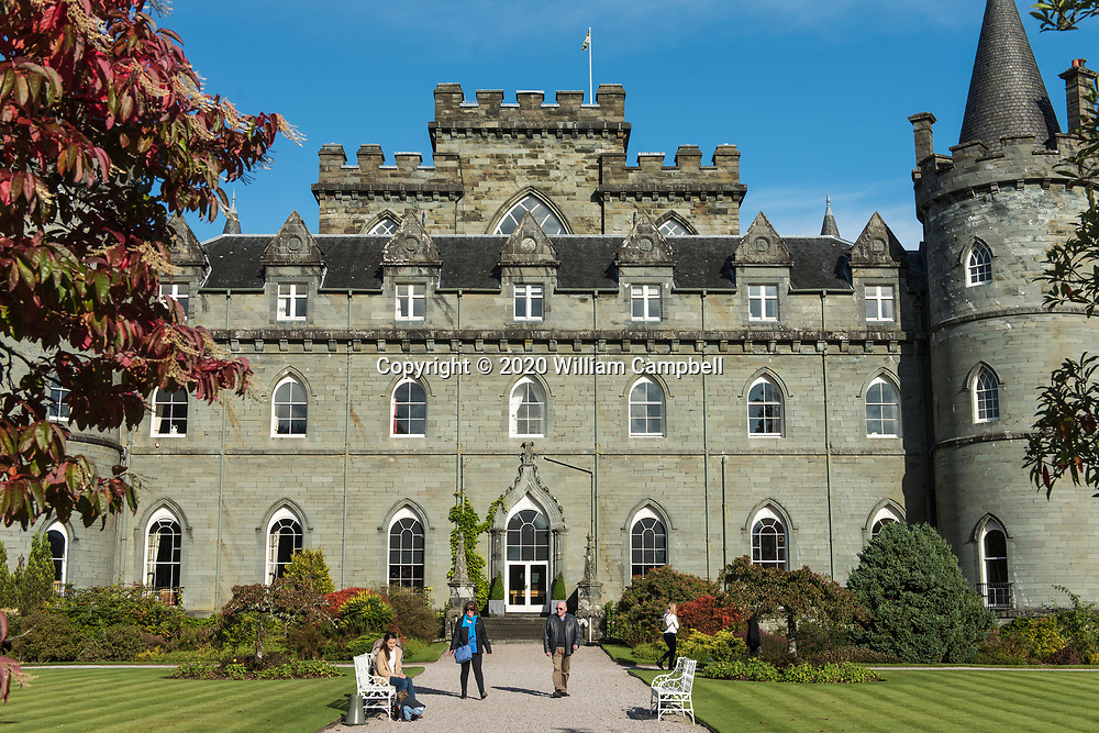 Inveraray Castle, the home of the Chief of the Campbell Clan, the Duke of Argyll, at Inveraray, Argyll, Scotland is open to the public.