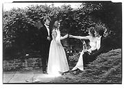 Andrew Peebler. Diana Young, Thalia Marshall, Nick Herbert, Magdalen May Ball, Oxford, 1985© Copyright Photograph by Dafydd Jones 66 Stockwell Park Rd. London SW9 0DA Tel 020 7733 0108 www.dafjones.com