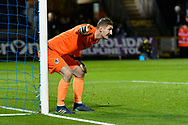Jack Bonham (13) of Bristol Rovers lines up his wall during the EFL Sky Bet League 1 match between Bristol Rovers and AFC Wimbledon at the Memorial Stadium, Bristol, England on 23 October 2018.