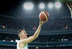 Jakob Cebasek of Slovenia during friendly basketball match between National teams of Slovenia and Croatia, on June 18, 2021 in Arena Stozice, Ljubljana, Slovenia. Photo by Vid Ponikvar / Sportida
