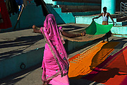Daily laundry activities on Lal Ghat begin at dawn.