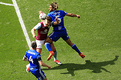 23 April 2017 - EFL Championship Football - Aston Villa v Birmingham City - Scott Hogan of Aston Villa is fouled by Ryan Shotton of Birmingam City - Photo: Paul Roberts / Offside
