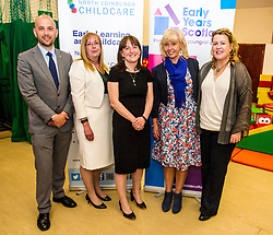 Pictured: Ben McGregor, MSP, Theresa Allison, North Edinburgh Childcare and Training centre general manager, Jean Carwood-Edwards, Chief Executive Early Years Scotland and Jane Brumpton, deputy Chief Executive Early Years ScotlandThe Minister for Childcare and Early Years, Maree Todd visited North Edinburgh Childcare and Training centre today and welcomed the childcare deposit pilot. Ms Todd met staff and children at the centre to discuss the pilot.Ger Harley | Edinburgh Elite Media