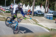 #211 (EVANS Kyle) GBR during practice at Round 5 of the 2018 UCI BMX Superscross World Cup in Zolder, Belgium