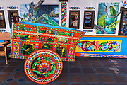 Traditional painted oxcart, Sarchi, Alajuela Province, Costa Rica