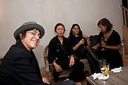 ALESSANDRA GRECO; GEE BRUNET; TINA ELHAGE; NATHALIE COMPTY, Launch of the Orange restaurant, 37 Pimlico Road, SW1W 8NE,  Thursday 29 October 2009