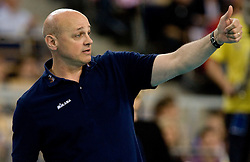 Head coach of ACH Glenn Hoag at  match for 3rd place of CEV Indesit Champions League FINAL FOUR tournament between PGE Skra Belchatow, POL and ACH Volley Bled, SLO on May 2, 2010, at Arena Atlas, Lodz, Poland. Belchatow defeated ACH 3-1. (Photo by Vid Ponikvar / Sportida)